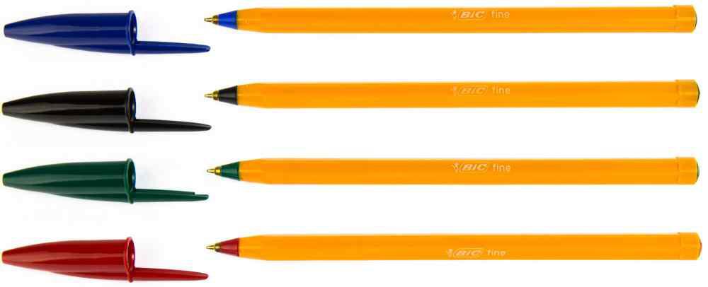 Ручка Оранж зеленая, тонкая линия, УП20