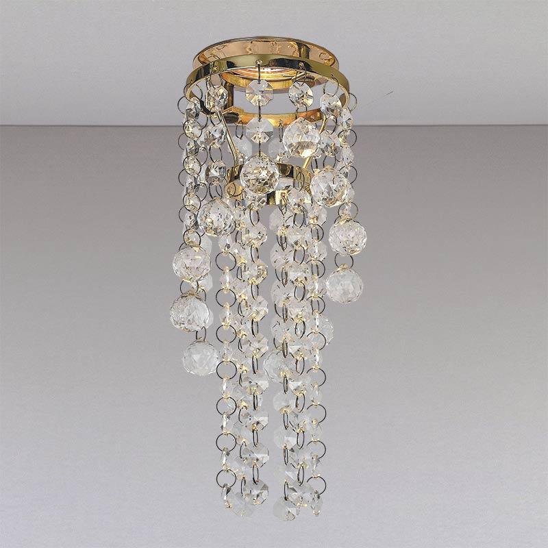 Точечный хрустальный светильник, золото LS-11190 GD/CL