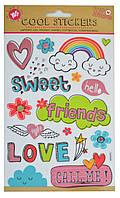 """Набор декоративных стикеров """"Friends"""", 140*210мм"""