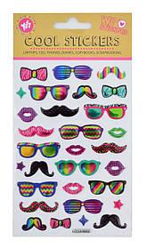 """Набор декоративных стикеров с тиснением """"Glasses"""", 100*150 мм"""