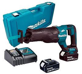 Аккумуляторная ножовка Makita DJR187RME + 2 акб BL1840 18 V 4 Ah + з/у DC18RC + кейс