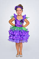 Детский карнавальный костюм Фиалка для девочки, рост 98-116