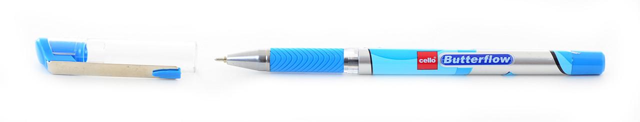 "Ручка шар/масл ""Butterflow"" синяя 0,7 мм ""CELLO"""