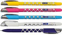 """Ручка шар/масл """"Gliss"""" синяя 0,7 мм """"LINC"""" (микс цветов корпуса)"""