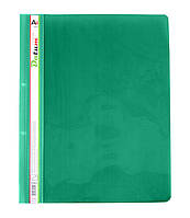 Скоросшиватель пластик. А4 зеленый/св.зеленый, с перф. D2224