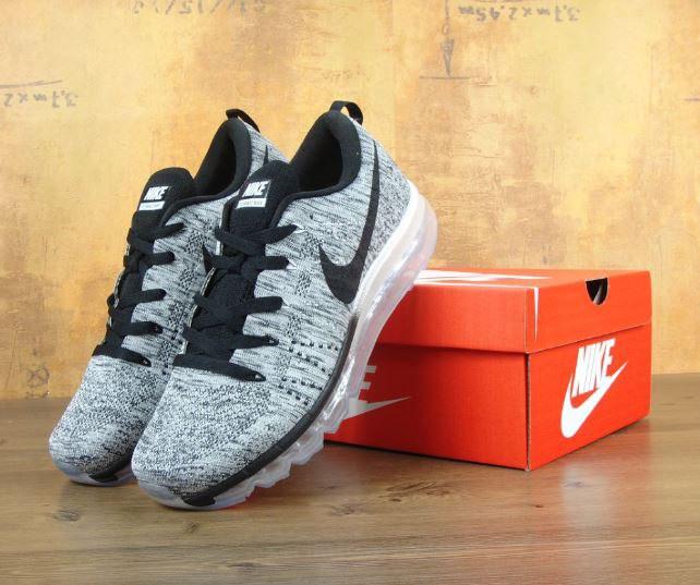 49e8bedb Мужские кроссовки Nike Flyknit Air Max grey. Топ качество. Живое фото  (Реплика ААА