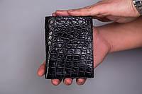 Портмоне с отделами для документов из натуральной кожи крокодила
