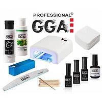 Стартовый набор 014 GGA Professional с УФ лампой для гель лака, маникюра, педикюра