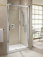 GEO 6 двери 160см, раздвижные 2-элементные, закаленное стекло, серебряный блеск, часть 2/2