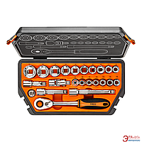 Набор торцевых головок, трещотка NEO Tools 23 шт. (08-616)