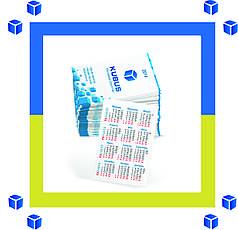 Изготовление и печать карманных календарей  (оперативно/любые тиражи/300 гр/м2/4 дня)