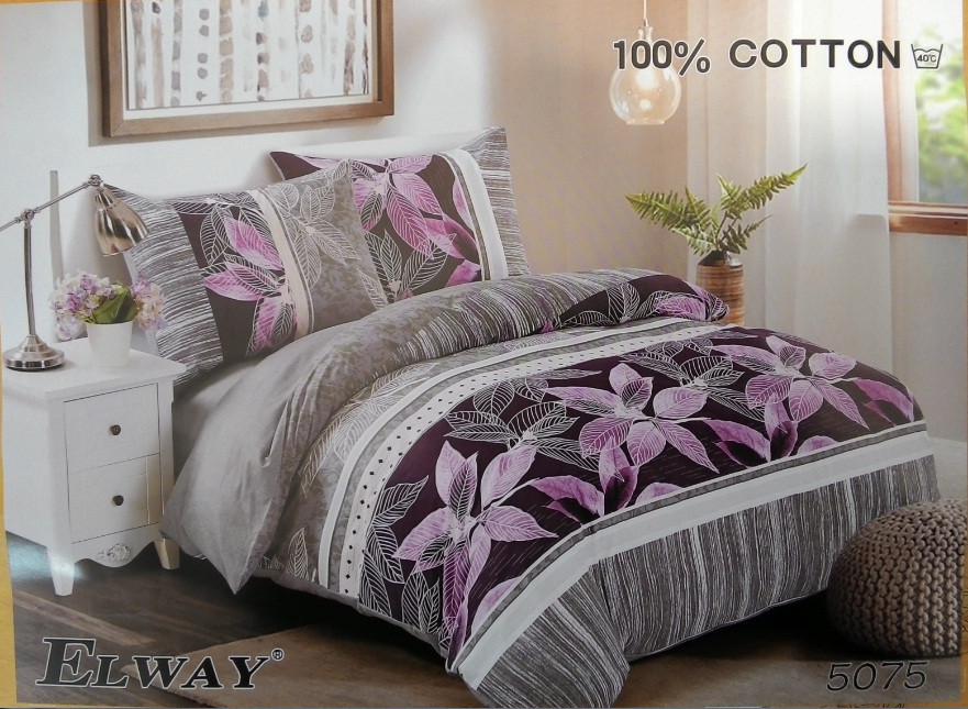 Сатиновое постельное белье семейное ELWAY 5075