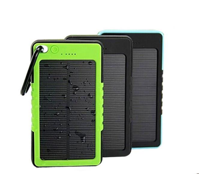Power Bank c солнечной батареей+LED
