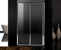 Дверь в нишу раздвижная 120*195, профиль хром, стекло прозрачное 5 мм