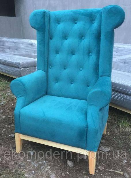 Кресло каминное ВОЛЬТЕР для гостиной дома и офиса