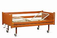 Уценка: Медицинская функциональная деревянная кровать на колесах (4 секции), OSD-94