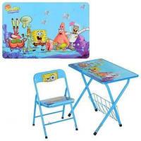 """Столик со стульчиком """"Спанч Боб"""" детский Bambi DT 20-4 голубой"""
