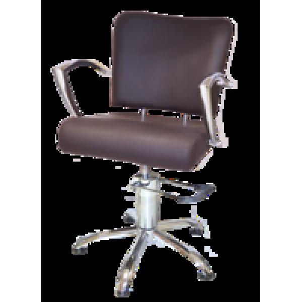 Парикмахерское кресло 6006 коричневое