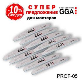 Набор пилок полумесяц 10 шт GGA для маникюра