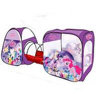 Палатка с тоннелем Пони My Little Pony M 3777 LP Палатки в форме домика + тоннель 270х92х92 см.