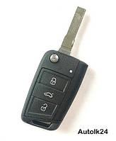 Корпус выкидного ключа для Volkswagen Golf 7, фото 1