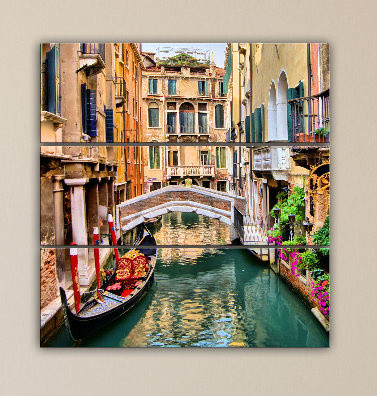 Модульная картина Улочки Венеции
