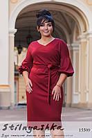 f05e1852320 Большое стильное платье марсала