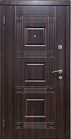 Бронированная дверь Зимен КВАРТИРА Министр темный орех (960) L (2 контура)