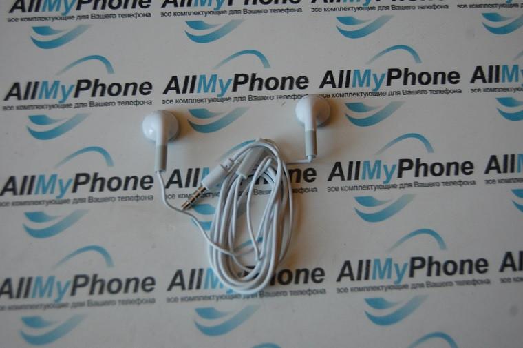 Наушники для Apple Iphone 3,3gs,4,4s с микрофоном white