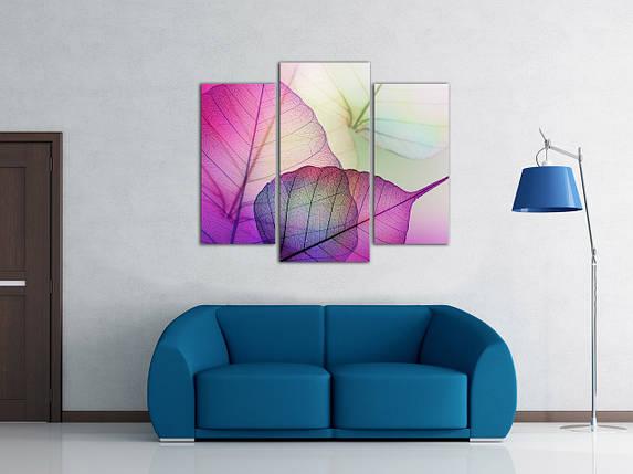 Модульная картина Цветные листья, фото 2