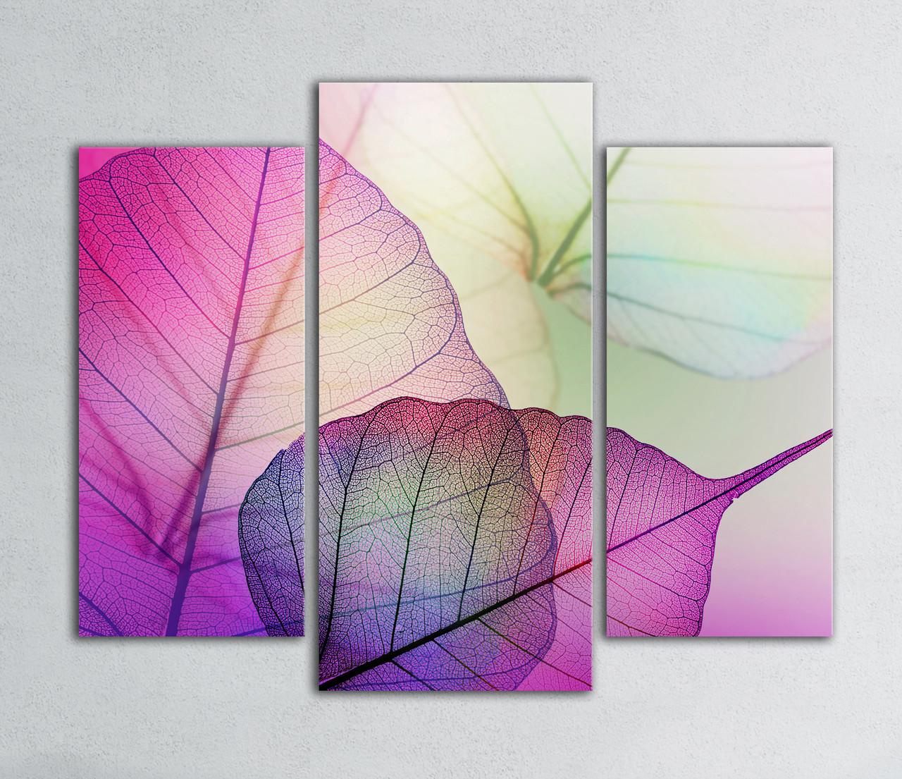 Модульная картина Цветные листья