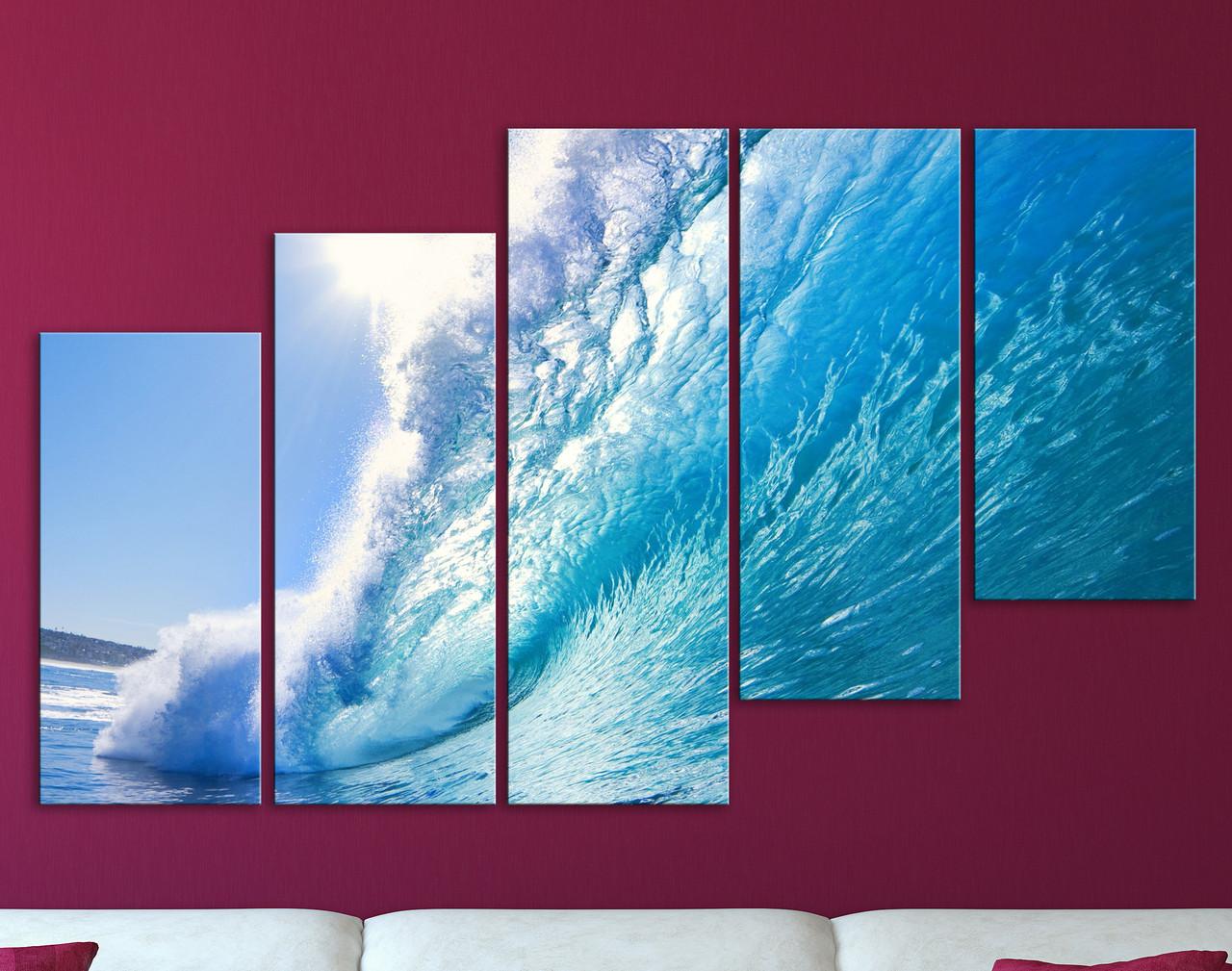 Модульная картина Океанская волна