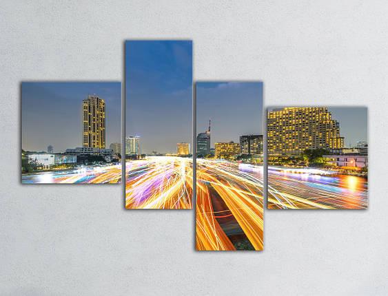 Модульная картина Вечерний город, фото 2