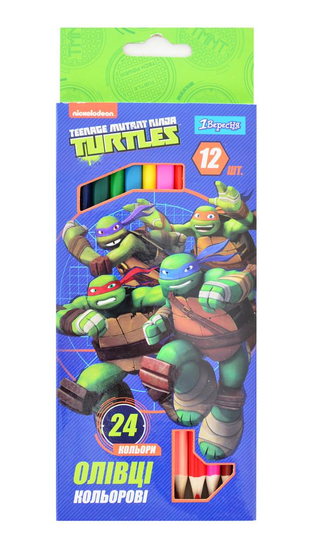 """Карандаши 12/24 цв. """"Ninja Turtles"""""""