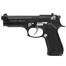 Сигнальний пістолет, стартовий Retay Beretta 92FS Mod.92 (9мм, 15 зарядів), чорний/нікель