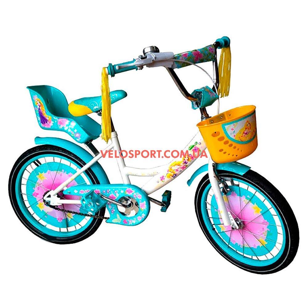 Детский велосипед Azimut Girls 20 дюймов бело-бирюзовый