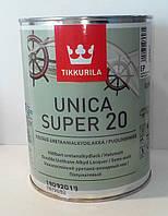 Износостойкий уретано-алкидный лак Уника Супер полуматовый (TIKKURILA Unica Super 20) 0,9л