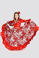 """Цыганочка """"серебро"""" карнавальный костюм для девочки, рост 110-140 см"""