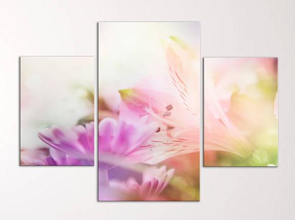 """Модульная картина """"Нежные цветы"""", фото 2"""