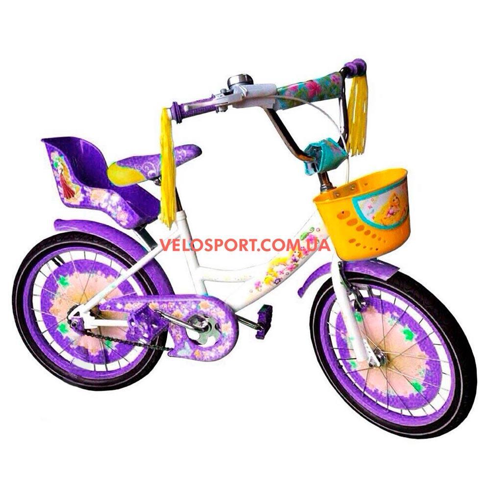 Детский велосипед Azimut Girls 20 дюймов бело-фиолетовый