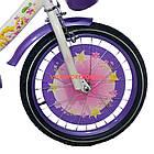 Детский велосипед Azimut Girls 20 дюймов бело-фиолетовый, фото 2