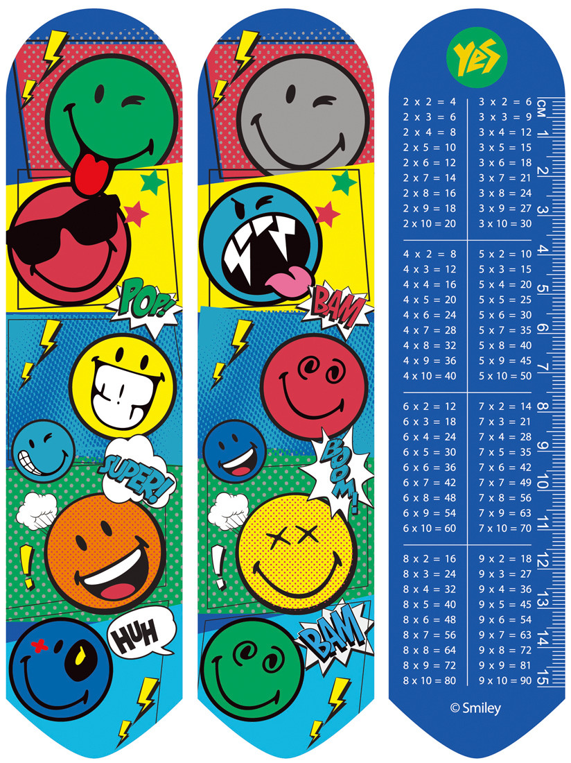 "Закладки 2D ""Smiley World""(blue)"