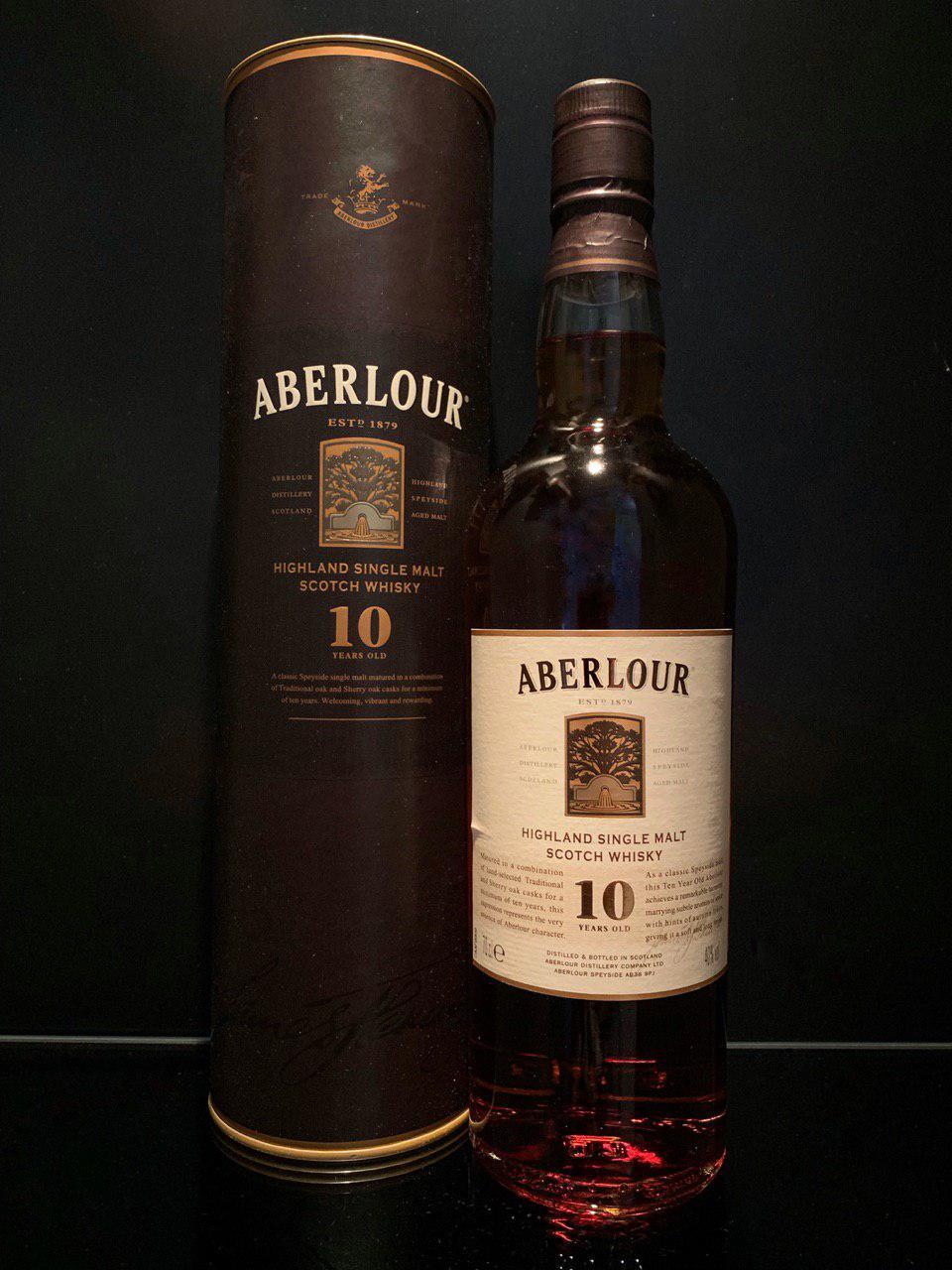Торфяной виски Aberlour 10 y.o. Аберлауэр 10 лет 0.7л