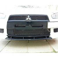 Накладка переднего бампера (ноздри) Mitsubishi Lancer X 2007-