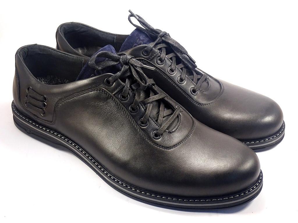 Полуботинки кожаные мужская обувь больших размеров Rosso Avangard BS Prince Black Lether черные