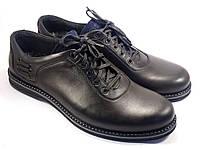 Большой размер полуботинки мужские кожаные Rosso Avangard BS Prince Black Lether черные