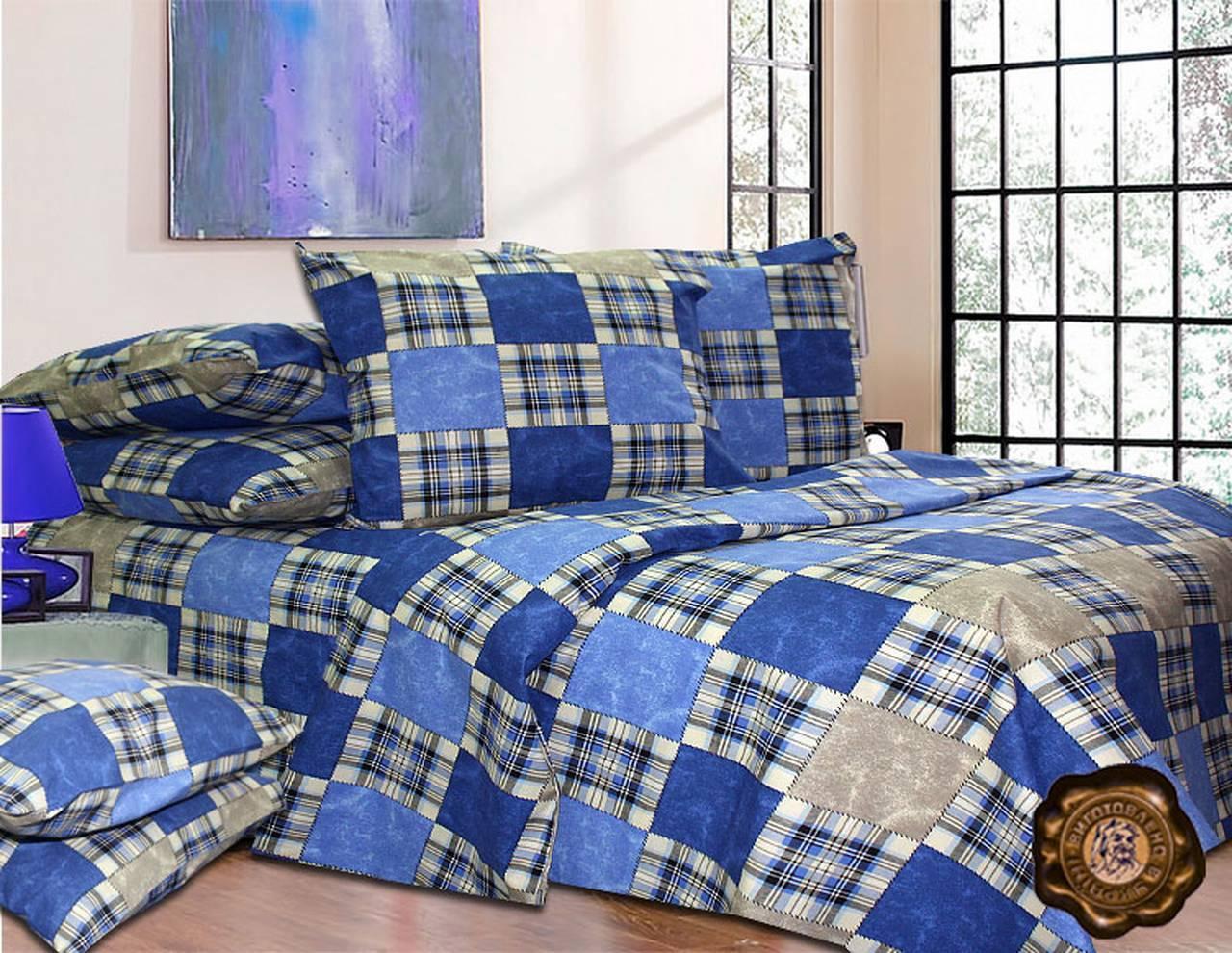 Комплект постельного белья Евро, Бязь-100% хлопок (2-х сп.ЕТ0270)