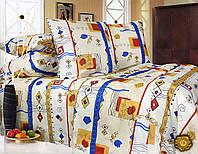 Комплект постельного белья Евро, Бязь-100% хлопок (2-х сп.ЕТ0302)