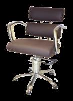 Кресло парикмахерское 6513bl черное, фото 3