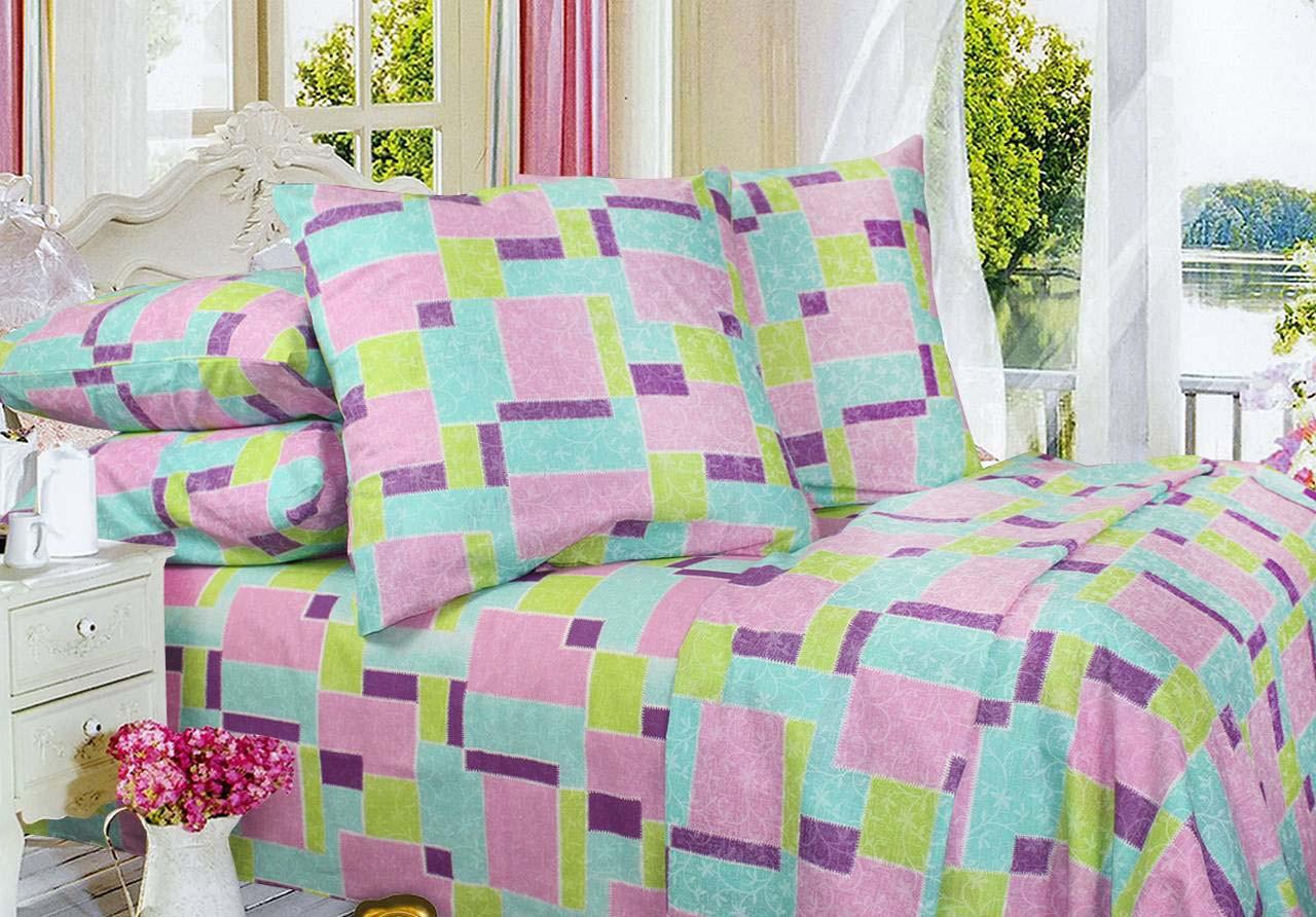 Комплект постельного белья Евро, Бязь-100% хлопок (2-х сп.ЕТ0346)